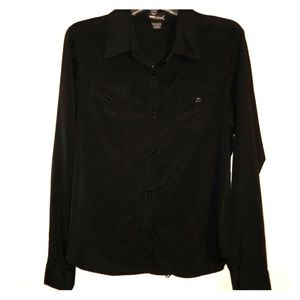 Wet Seal Collared Button Down w/ Detail In Back